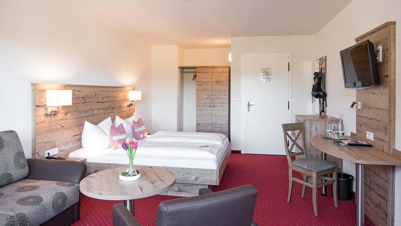 Doppelzimmer Komfort Schwarzwald im Hotel Kalikutt