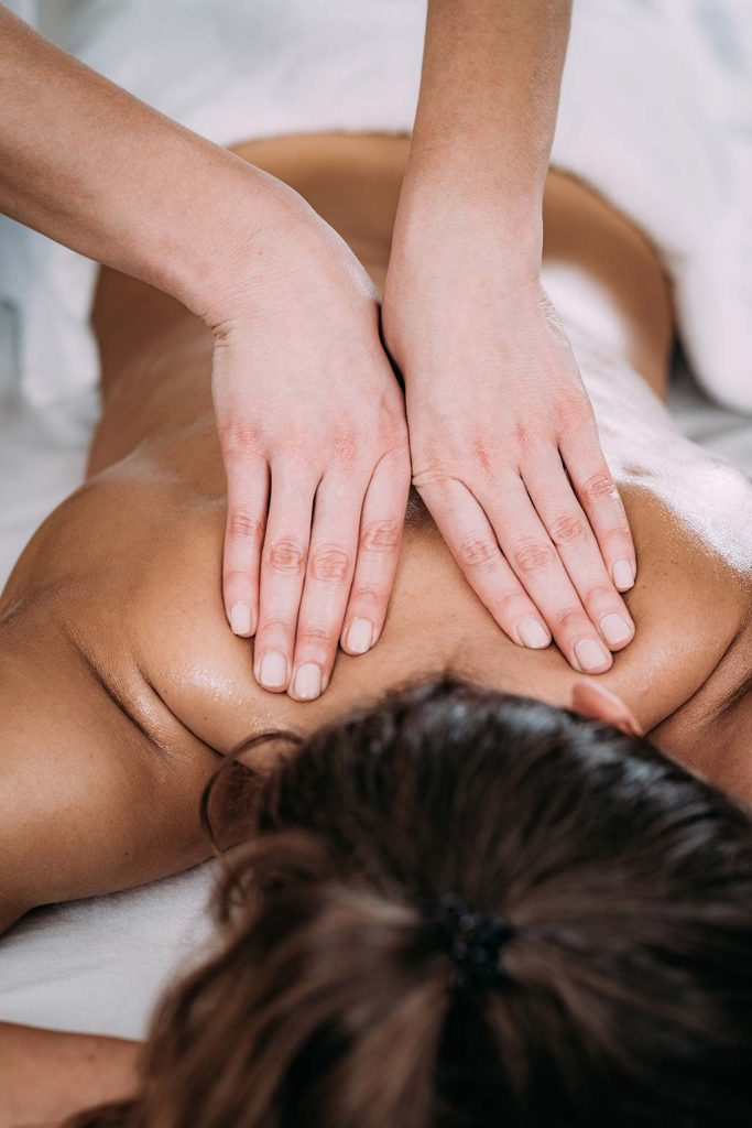 Massage in der Wellness-Stube im Hotel Kalikutt
